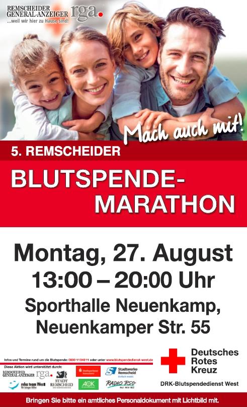 5. Remscheider Blutspende-Marathon @ Sporthalle Neuenkamp   Remscheid   Nordrhein-Westfalen   Deutschland