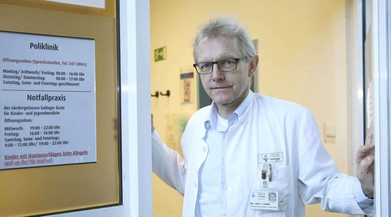 Dr. Volker Soditt ist Chefarzt der Kinderklinik am Klinikum Solingen